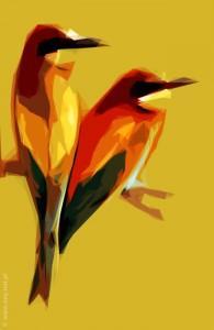 dwa ptaki