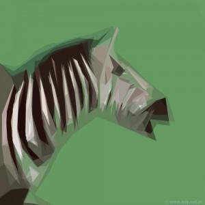 zebra popiersie